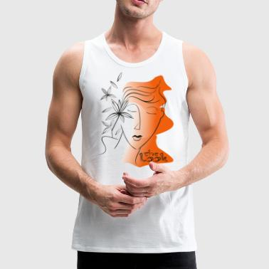 Orange Gesicht 5 (Serie The Look) - Männer Premium Tank Top