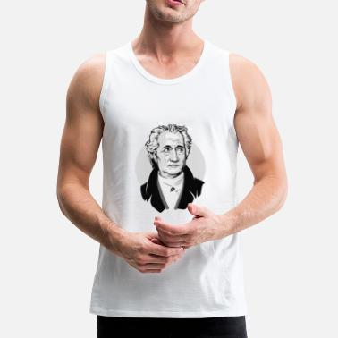 Goethe Pop Art Drawing Bust Black White - Canotta premium da uomo