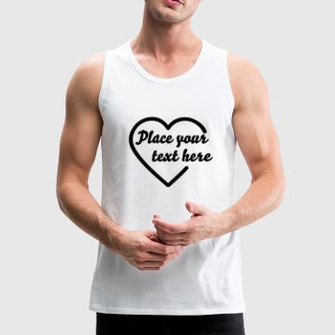 open heart outline (1c) - Premium singlet for menn