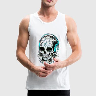 Music skull - Men's Premium Tank Top
