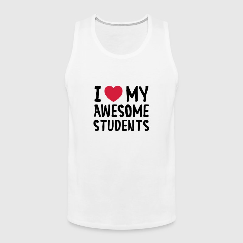 I Love (Heart) My Awesome Students - Débardeur Premium Homme