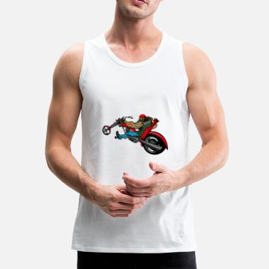Chopper Biker op chopper - Mannen Premium tank top