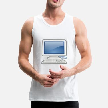 Pc great for PC nerds or PC in love - Men's Premium Tank Top