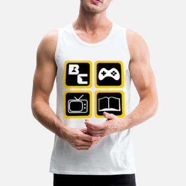 Gamers t-shirt, gaming leven, gamer routine - Mannen Premium tank top