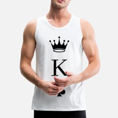 Pik Playing Card Pik King - Men's Premium Tank Top