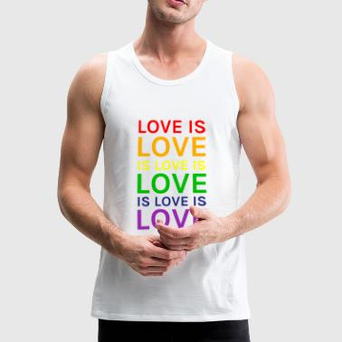 Lovely Love is Love is Love is Love Rainbow - Men's Premium Tank Top