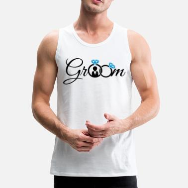Groom Groom - Men's Premium Tank Top