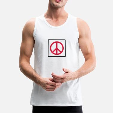 Quadrat Frieden im Quadrat / peace in square (2c) - Men's Premium Tank Top