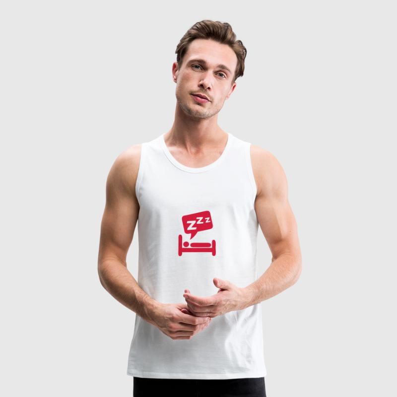 Sleeping bubble zzz icon bed 404 - Men's Premium Tank Top