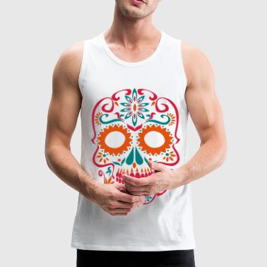 sugar skull day of the dead - Men's Premium Tank Top