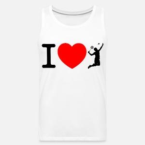 4099260cd0c50d I love badminton Men s Organic T-Shirt