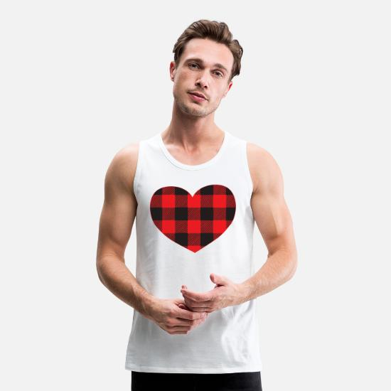Love Tank Tops - Valentines Heart 11 - Men's Premium Tank Top white
