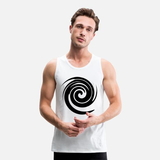 Gift Idea Tank Tops - Swirl spiral squiggle pattern shirt gift idea - Men's Premium Tank Top white