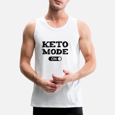 Keto Mode On Ketogenic Diet Fitness Low Carb - Men's Premium Tank Top