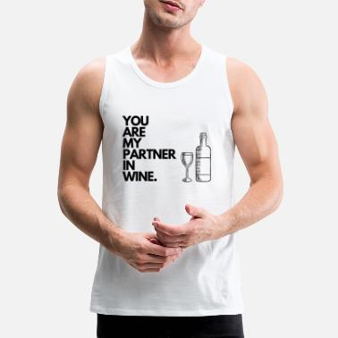 Partner In Wine. - Männer Premium Tanktop