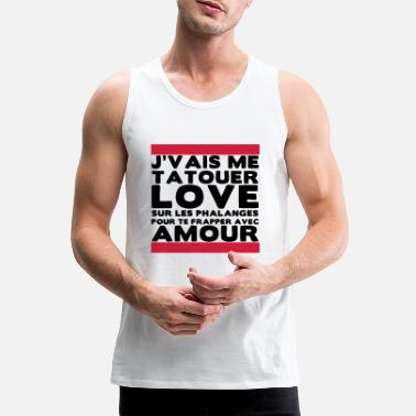 angry funny ghetto hip - Men's Premium Tank Top