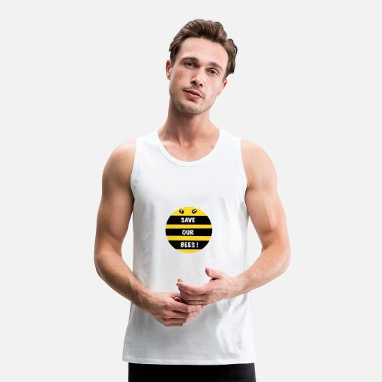Nature Tank Tops - Save Our Bees ! - Men's Premium Tank Top white