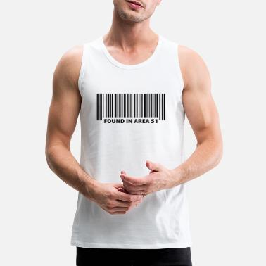 Area Found in Area 51 - Mannen premium tank top