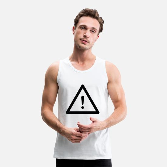 Symbol  Tank Tops - danger - Men's Premium Tank Top white