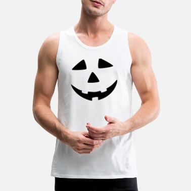 Scary halloween face! Costume Party - Men's Premium Tank Top