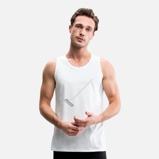 Clean Tank Tops - cleaning cleaning cleaning woman broom wischmop52 - Men's Premium Tank Top white