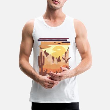 Art Desert Nature Arizona Cactus Gift - Men's Premium Tank Top