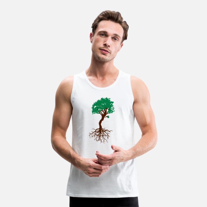 Atemberaubend Bonsai Baum mit Wurzeln Lebensbaum Männer Premium Tanktop #AK_73