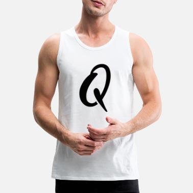 Letter-sign Q letter sign funny - Men's Premium Tank Top
