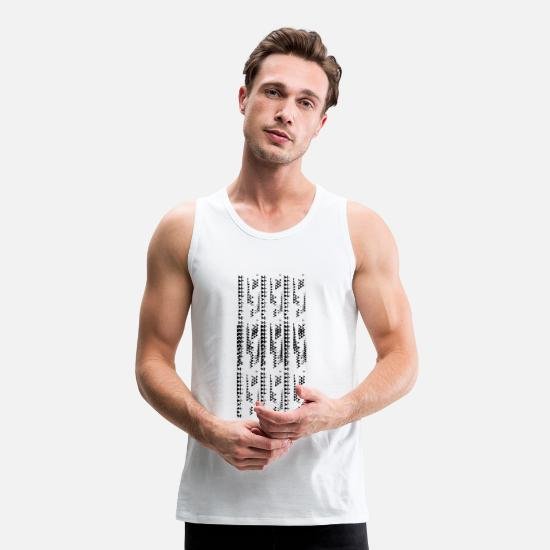 Magic Tank Tops - ethno look pattern - Men's Premium Tank Top white