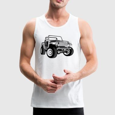 Off-road vehicle / Jeep SUV 03_black - Men's Premium Tank Top