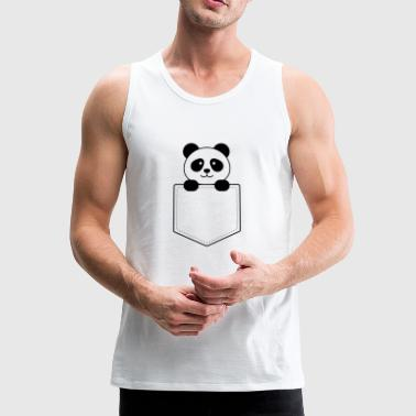 Panda baby in the vest pocket - Men's Premium Tank Top