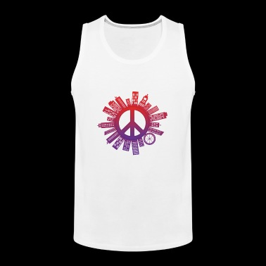 City of Peace World Peace - Mannen Premium tank top