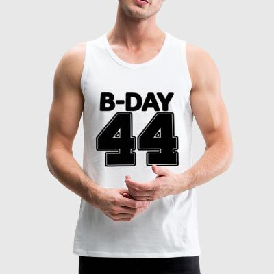 44 years number number 44th birthday numbers jersey - Men's Premium Tank Top
