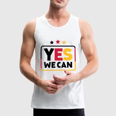 Yes we can Black Red Gold Germany soccer fan - Men's Premium Tank Top