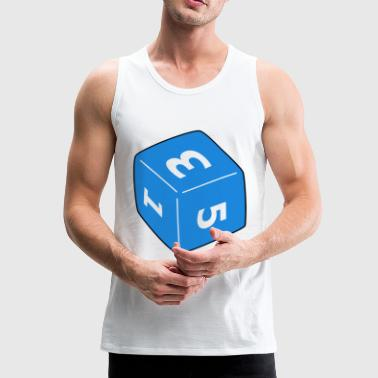 dice, luck, rollensoiel, hobby - Men's Premium Tank Top