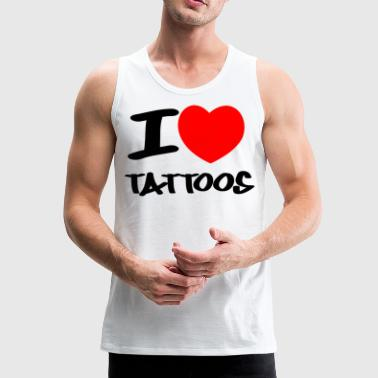 I love Tattoos - Männer Premium Tank Top