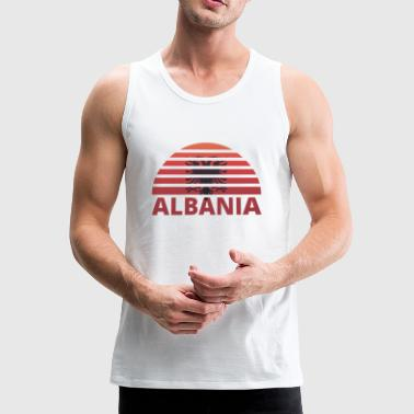 Sunset Sunburst home home huis wortels ALBANIA h - Mannen Premium tank top