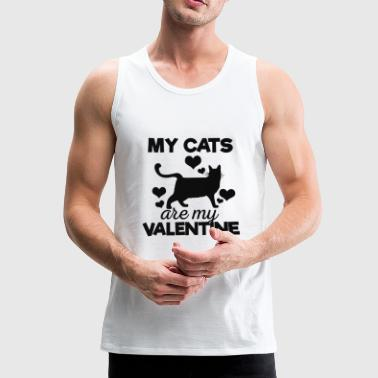 Cute My Cats are My Valentine Camiseta - Tank top premium hombre
