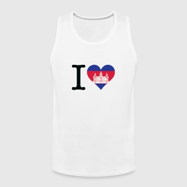 I Love Cambodia - Men's Premium Tank Top