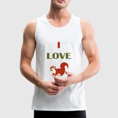 I LOVE Squirrel - Men's Premium Tank Top