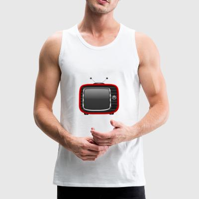Retro Tv Red 001 AllroundDesigns - Men's Premium Tank Top