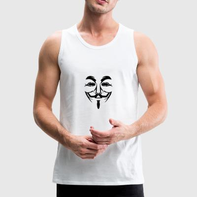 Anonymous Mask PNG Picture - Men's Premium Tank Top