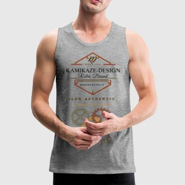 Kamikaze Design Vintage Retro Design - Men's Premium Tank Top