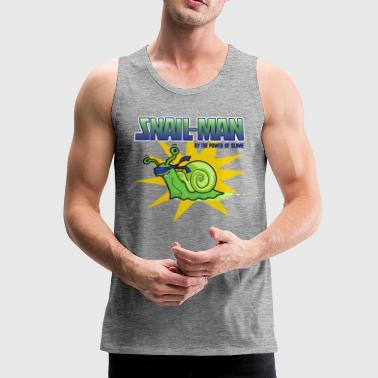 Snail-Man - by the Power of Slime - Men's Premium Tank Top