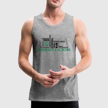 Mountain bike Wordart - Men's Premium Tank Top
