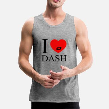 Dash dash sort - Premium singlet for menn
