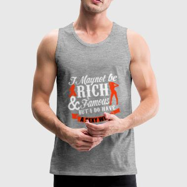 Wife Husband Wife Sexy Rich Gift - Men's Premium Tank Top