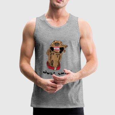 Just smile - Premium singlet for menn