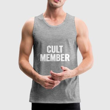 Cult Member White - Men's Premium Tank Top