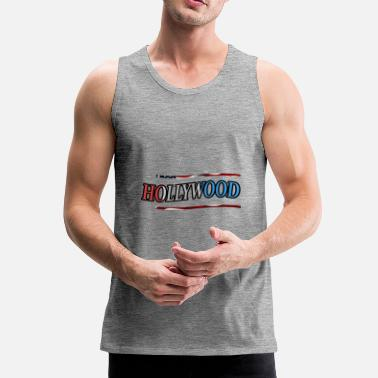 Hollywood hollywood - Miesten premium hihaton paita